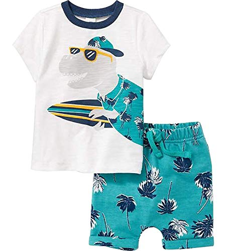 Toddler Boys Cotton Clothing Sets Short Sleeve Tee and Shorts Croc 4t