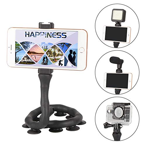 Flexible Mobile Phone Holder Stand Twistable 10 Suction Cup Lazy Bracket Long -