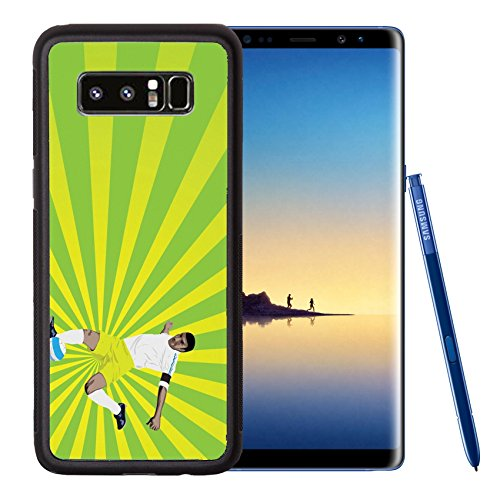 Liili Premium Samsung Galaxy Note8 Aluminum Backplate Bumper Snap Case IMAGE ID: 11822052 vector illustration of a soccer player trying to score with sun burst - Sun Capsule Prices
