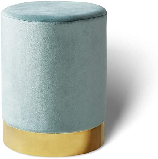 colore: Champagne per riporre oggetti Poggiapiedi in velluto doppio. Organzy Lifestyle Living design elegante