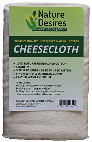 Cheesecloth :: Unbleached Grade 90 Natural Cotton Cheese Cloth -