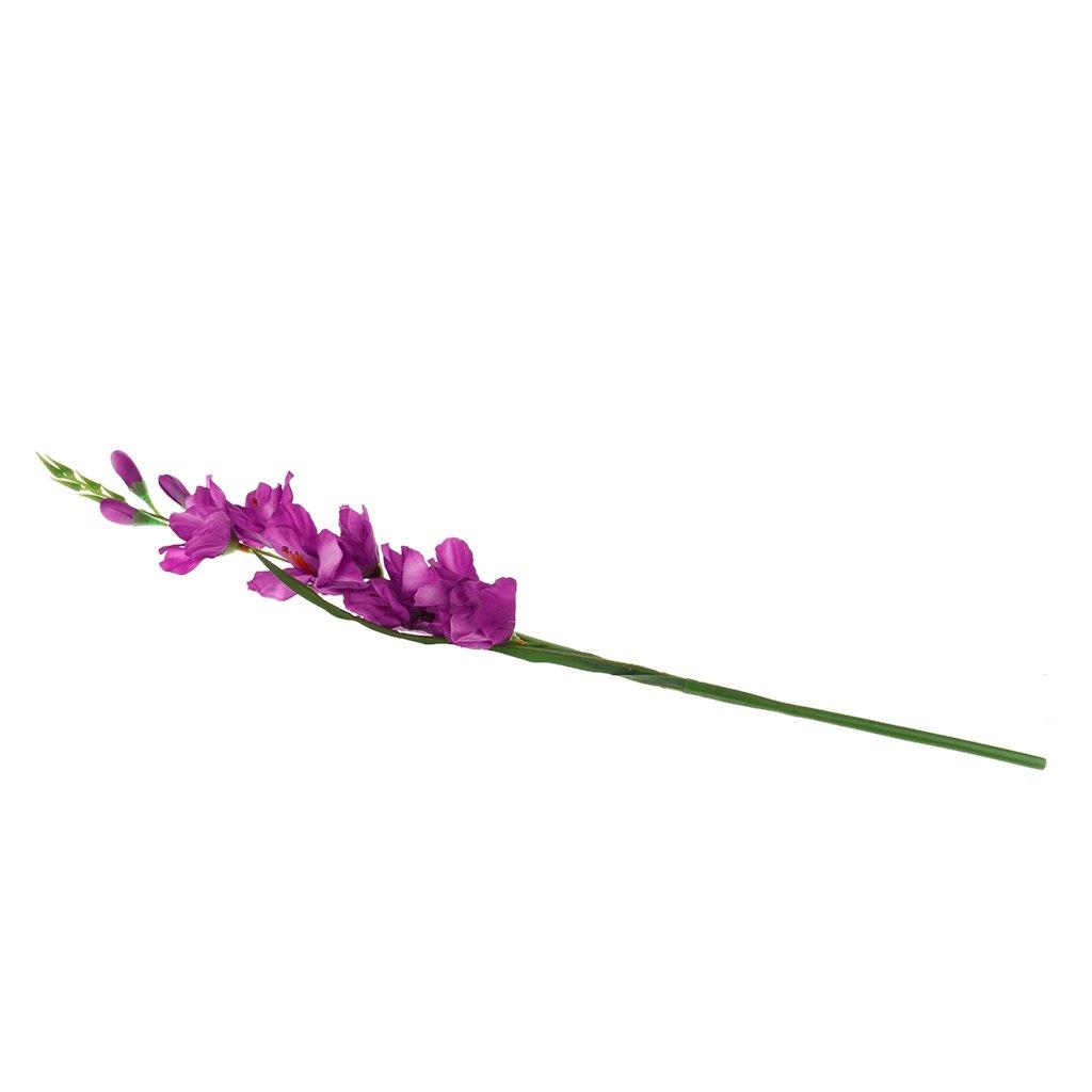 Sharplace 1pz Simulazione Fiore del Gladiolus Artificiale Staminali Matrimonio Casa Nozze Tavolo Decorazioni - Viola