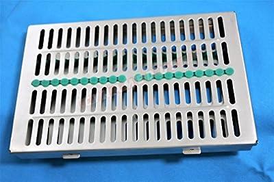 GERMAN Dental Sterilization Cassette, Autoclave Tray, Rack, Box, 20-Instruments