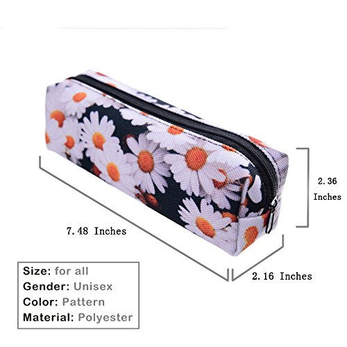koojoee-casual-cute-zipper-small-practical-pouch-pencil-case-for-study-or-cosmetic-use-white-daisy