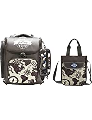Moonwind Cool Boys Backpacks for School Kids Book Bags and Pencil Lunch Bag Set