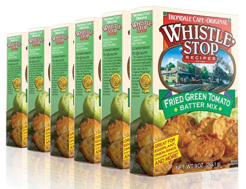 Original WhistleStop Cafe Recipes Fried Green Tomato Batter Mix ,9-oz (Pack of 6)