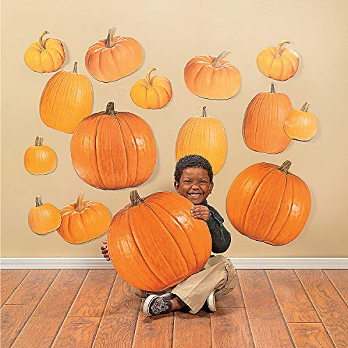Fun Express - Classroom Cutouts - Jumbo - Pumpkins for Fall - Educational - Classroom Decorations - Classroom Decor - Fall - 50 Pieces]()
