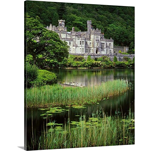 Ireland, Galway, Connemara, Kylemore Abbey Canvas Wall Art Print, 11
