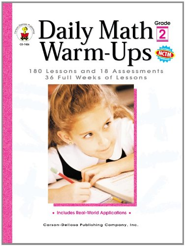 Download Daily Math Warm-Ups, Grade 2: 180 Lessons and 18 Assessments; 36 Weeks of Lessons (Daily Series) pdf epub