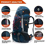 TERRA PEAK Adjustable Hiking Backpack 85 20L for