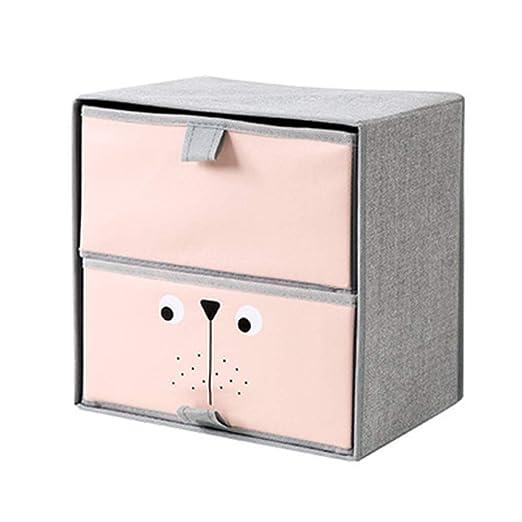 Sujetador cajón plegable cesta de almacenaje cajón caja de ...