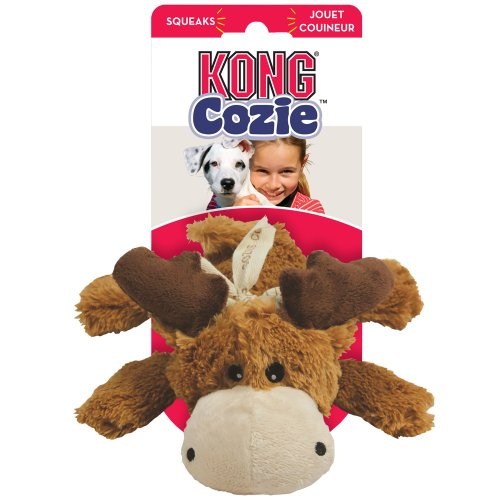 KONG Cozie Marvin the Moose Medium Dog Toy Brown