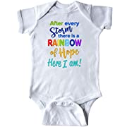 inktastic - After Every Storm, There is a Rainbow Infant Creeper Newborn White