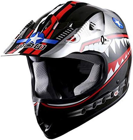 WOW Youth Kids Motocross BMX MX ATV Dirt Bike Helmet Shark Orange