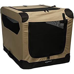 AmazonBasics Portable Folding Soft Dog Travel Crate Kennel 13
