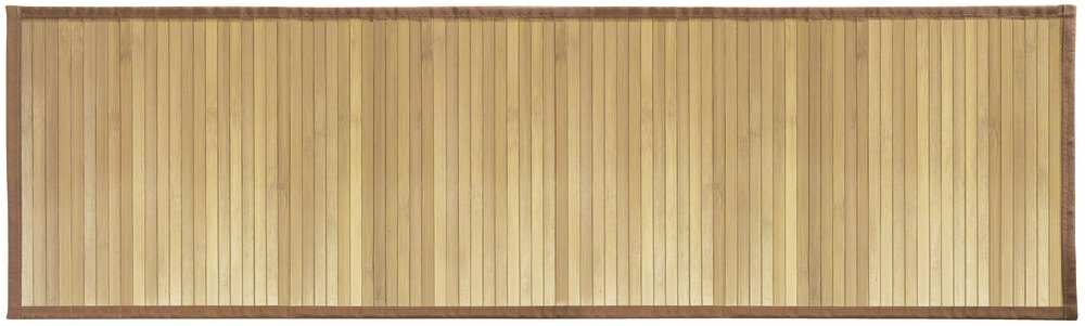 mDesign Water-Resistant Bamboo Floor Mat for Bathroom - Extra Large, Mocha Brown MetroDecor 2588MDBA