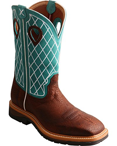 Twisted X Mens Lite Cowboy Work Boot Soft Toe - Mlcw021 Brown aSh87o