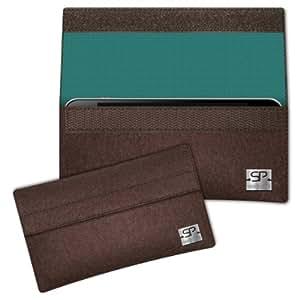 SIMON PIKE Cáscara Funda de móvil NewYork 4 marrón Samsung Galaxy Grand Prime Fieltro de lana