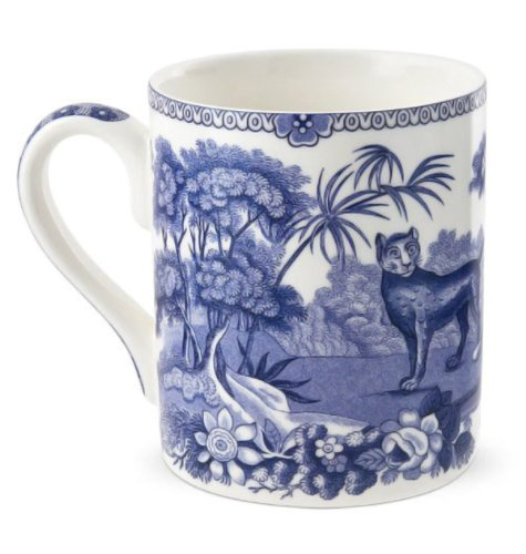 Blue Room 16 oz. Aesop's Fables Mug (Blue And White Canton)