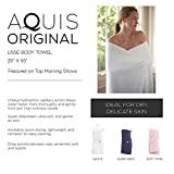 AQUIS - Set of 2 Lisse Body Towels, Ultra Absorbent & Fast Drying Microfiber Towels, White