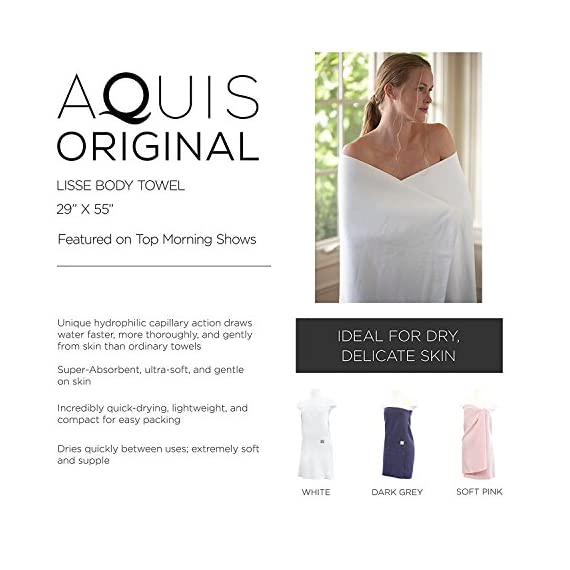 Aquis Original Microfiber Body Towel, Soft Pink - INNOVATIVE TECHNOLOGY: Made from Aquitex microfiber, which delivers efficient moisture transport while providing comfort and durability. SUPERIOR DRYING: Our microfiber is designed to dry your body more quickly, more thoroughly, and more gently than conventional cotton terry. And it dries rapidly between uses. SOFT & LAVISH: Innovative fabric woven from ultra-fine microfibers to provide a soft, luxurious feel. The supple microfibers are super gentle on your hair and skin, even with regular use. - bathroom-linens, bathroom, bath-towels - 510ZKuhTruL. SS570  -