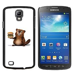 TECHCASE---Cubierta de la caja de protección para la piel dura ** Samsung Galaxy S4 Active i9295 ** --Castor amistoso hamburguesa