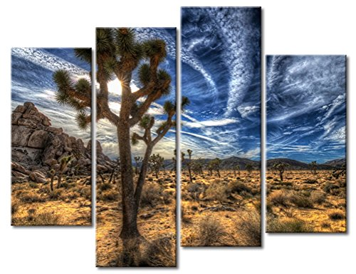 Joshua Trees On Desert Grass Wall Art Painting The Picture Print On Canvas Landscape Pictures for Home Decor Decoration Gift
