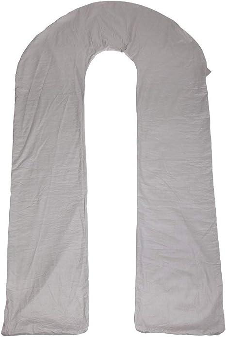 Gray Full Body Bolster Cover Maternity Pregnancy Pillow Zip Pillowcase 145cm