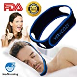 Snoring Solution Stop Snoring Chin Strap, Anti Snoring Chin Strap Snore Reduction Adjustable Snore Relief Chin Strap Mouth Breathers Sleep Aid Devices Stop Snoring Devices For Men (Black and blue)