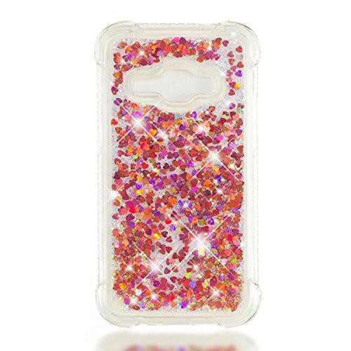 Silicone Or Housse Gel Azur Samsung pour Coque Anti Paillette Protection de Liquide Anti Choc J120 Samsung Coque Rose 2016 J1 Rayures Lomogo LOYBO37378 Galaxy J1 2016 Souple Galaxy xFW48vCzqw