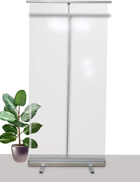 Mampara protectora portátil oficinas y trabajo - Protector móvil 200cm x 100cm - Mampara plegable con funda portátil para transportar: Amazon.es: Bricolaje y herramientas