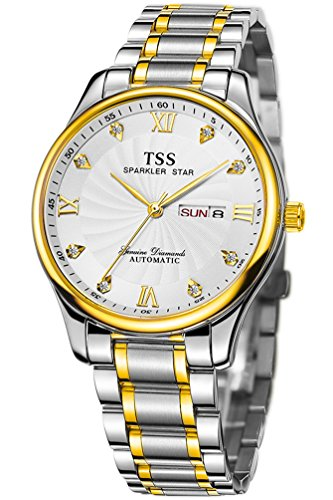 TSS Men's Automatic Two Tone Watch Stainless Steel Band T8020H1