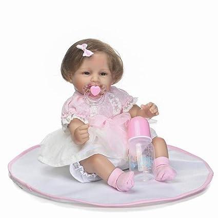 Amazon.com: Muñeca realista bebé reborn paño suave cuerpo de ...