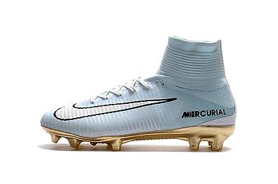 PELTAET Mens Mercurial Superfly Vitórias Hi Top Football Shoes Soccer Boots  (US7) Gray 40765d2ae8