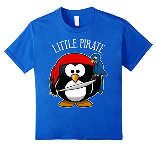[Kids Cute Penguin Pirate Costume Shirt for Kids, Men & Women 4 Royal Blue] (Parrot Costume Female)