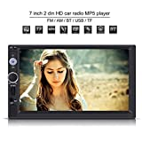 7 pulgadas 2 Din Reproductor Multimedia MP5 HD pantalla táctil Bluetooth GPS Estéreo Radio FM / USB / AUX / MP5 Player para coche