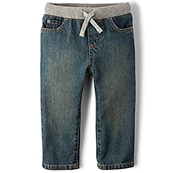 The Children's Place Little Boys and Toddler Pull-On Jean, Aged Stone, 2T