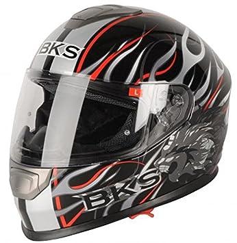 BKS Burnout motocicleta casco Moto Casco, carreras J y s