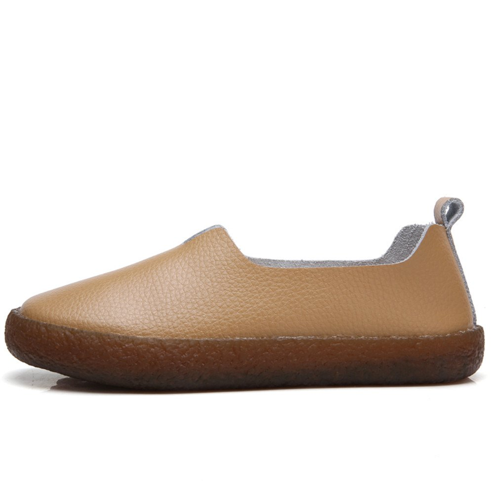 0cfeb71b7e6 Women s Classic Leather Flat Shoes Slip On Memory Foam Cushioned Loafers  Ladies Mocassins. Details. The Aleader Extra Cushioned Casual ...