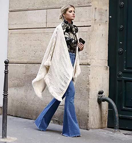 Azzurro Donna Jeans Da Elasticizzati Fashion Flare Huateng wAqFOYq