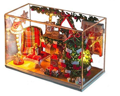 comprar mejor Kit de casa de munecas hechas a mano mano mano set miniatura noche de Navidad  a la venta