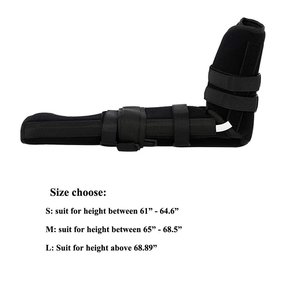 Elbow Sling, Adult Full Arm Brace for Elbow Forearm Post-Surgery Immobilizer & Fracture Splint with 7 Straps (Small)