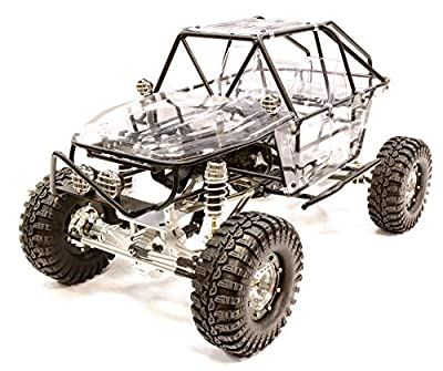 Integy Hobby RC Model C25799SILVER Billet Machined 1/10 RCT1.9 Roll Cage Type Trail Racer 4WD Scale Crawler ARTR