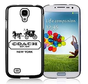 Coach logo 2 Black Samsung Galaxy S4 I9500 i337 M919 i545 r970 l720 Screen Phone Case Unique and Grace Design