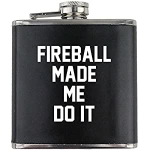 Fireball Made Me Do It Leather Wrapped 6oz. Flask