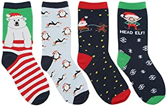 RJM Kids Cotton Rich Christmas Socks: Amazon.co.uk: Clothing