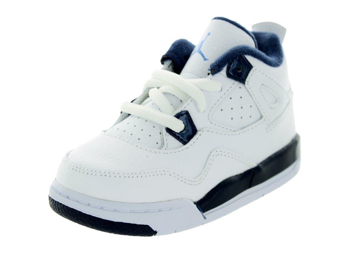 nike jordan bambins jordanie 4 rétro - bt Blanc chaussure  / légende bleu / mdnght marine chaussure Blanc de basket 10 nourrissons - nous 86f5fc