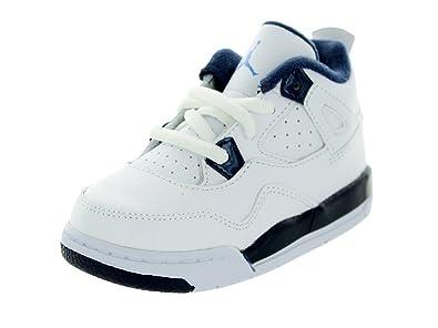 magasin d'usine 4de27 d1056 Jordan Nike Kids 4 Retro LS BT White/Blue 707432-107