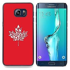 SKCASE Center / Funda Carcasa protectora - Modelo de la hoja de arce;;;;;;;; - Samsung Galaxy S6 Edge Plus / S6 Edge+ G928