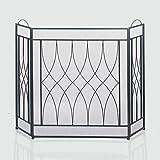Fennco Styles Alpine Geometric Decorative Fireplace Screen